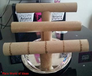 diy paper towel roll jewelry holder hometalk On diy paper towel roll crafts