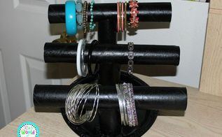 diy paper towel roll jewelry holder, crafts, how to, organizing, repurposing upcycling