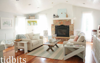 Living Room Goes From a Cabin to Cottage Fresh