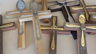 q ideas to repurpose souvenir spoons, crafts, repurposing upcycling, I want to make some of these crosses