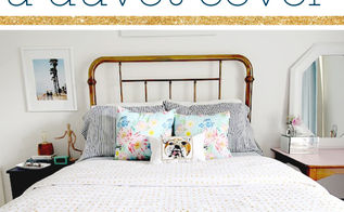 stencil a duvet cover with the myriad allover pattern, bedroom ideas, crafts, how to, reupholster