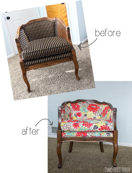 Diy Barrel Chair Painted Furniture Reupholster