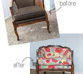 Diy Barrel Chair, Painted Furniture, Reupholster