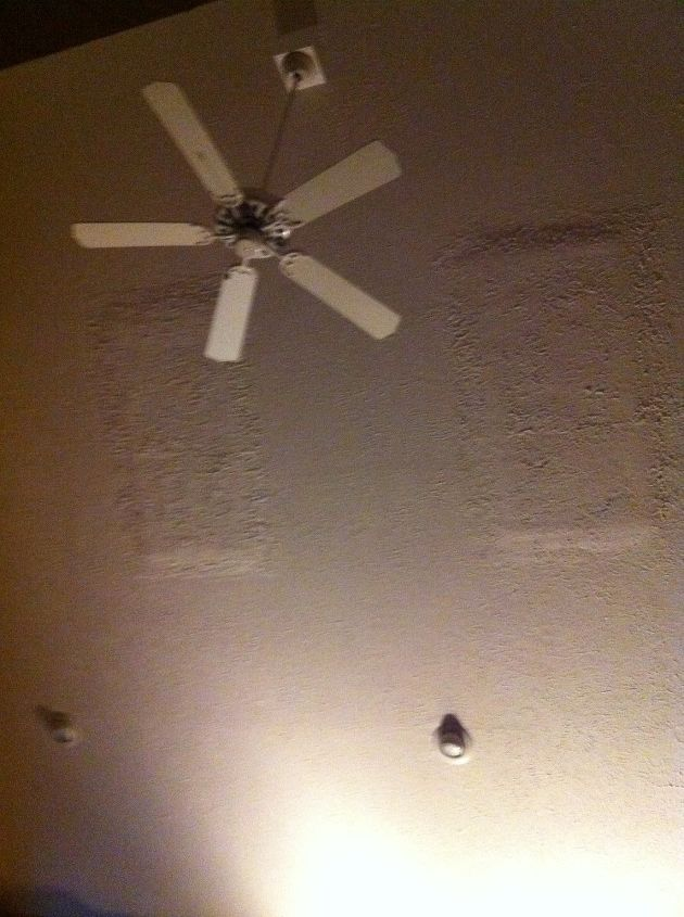 q drywall skylight repair disaster, home maintenance repairs, wall decor, Two skylights can you tell where they were