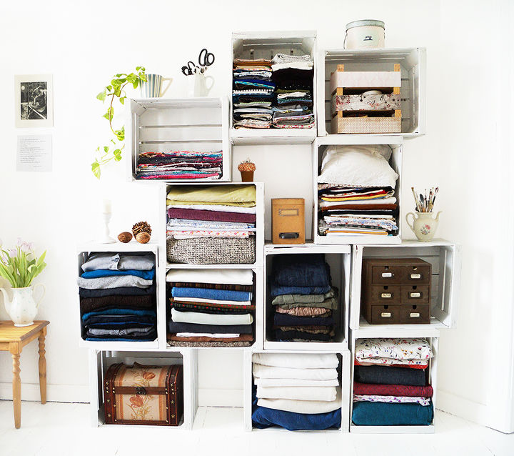 apple crates shelf, craft rooms, how to, repurposing upcycling, shelving ideas, storage ideas