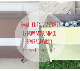 file cabinet turned beverage caddy outdoor furniture outdoor living painted furniture repurposing & File Cabinet Turned Beverage Caddy | Hometalk