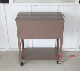 Charming File Cabinet Turned Beverage Caddy, Outdoor Furniture, Outdoor Living,  Painted Furniture, Repurposing