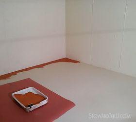 Painted Vinyl Basement Floor, Basement Ideas, Flooring, Home Improvement,  Painting