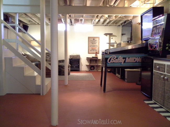 painted vinyl basement floor, basement ideas, flooring, home improvement, painting