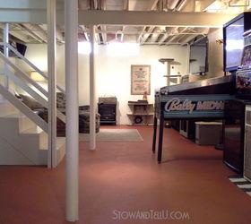Painted Vinyl Basement Floor, Basement Ideas, Flooring, Home Improvement,  ...