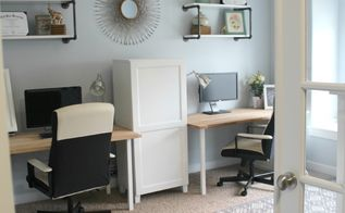 a family office and guest room in one, bedroom ideas, home office, organizing