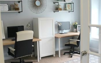 A Family Office And Guest Room in One!  Before And After!