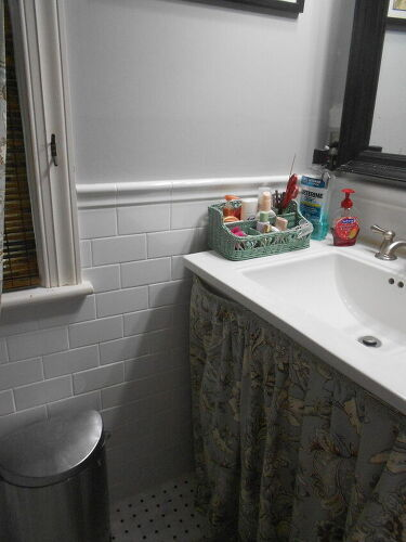 its a very small bathroom but this gives you a pretty good idea of how - Bathroom Tiles Height
