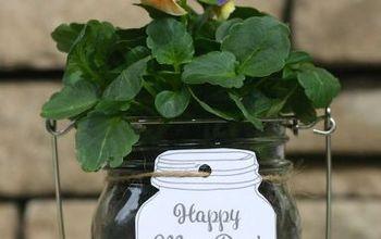 Mason Jar May Day Gift