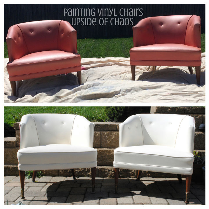 painting vinyl chairs, painted furniture