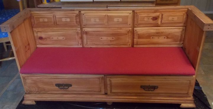 Dresser To Bench Painted Furniture Repurposing Upcycling