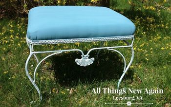Instead of Re-Upholstering Ugly Old Fabric, Try Painting It Instead!