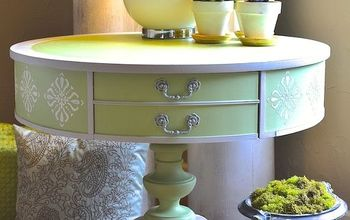 Use Fusion Products To Create Texture And Bling on a Boring Side Table