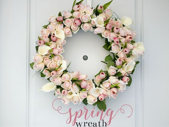 spring rosebud wreath, crafts, flowers, how to, wreaths