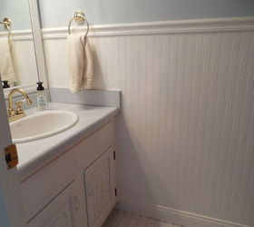 Should I Continue Floor Tile Up To Chair Rail Height In Bathroom? | Hometalk