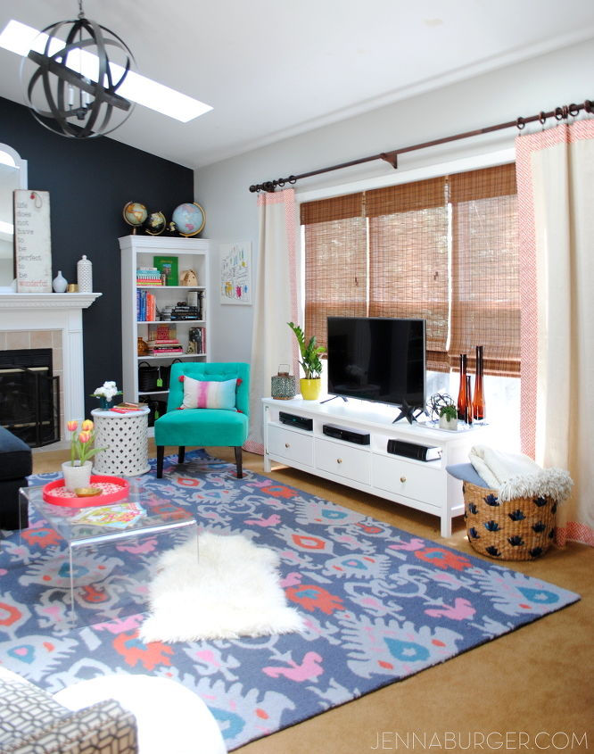 Eclectic Living Room Makeover Reveal Ideas