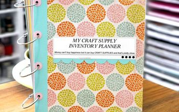 time to organize those craft supplies with a planner, craft rooms, crafts, organizing