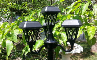 floor lamp solar light feature for your patio, lighting, outdoor living, patio, repurposing upcycling