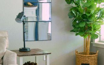 diy windowpane mirror, crafts, diy, how to, repurposing upcycling, wall decor