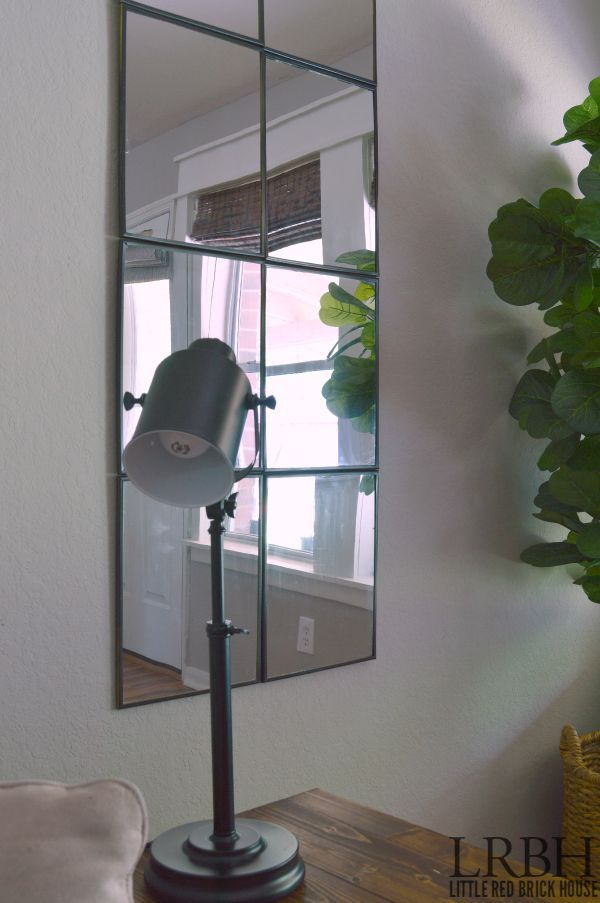 DIY Windowpane Mirror | Hometalk