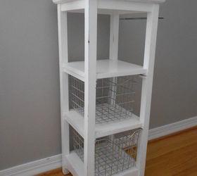 Bathroom Storage Tower Repurposed Into a Craft Cart Hometalk