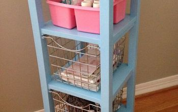 Bathroom Storage Tower Repurposed Into a Craft Cart
