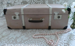 chalk paint saves a suitcase from the tip, chalk paint, how to, painted furniture, repurposing upcycling