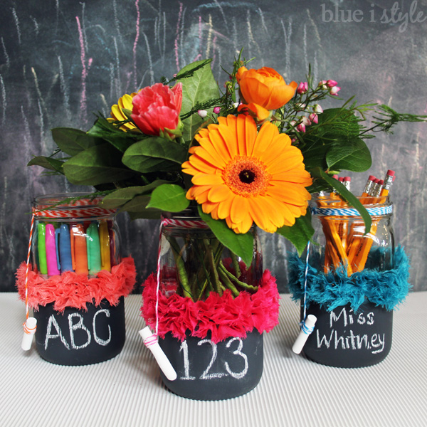 Mason Jar Chalkboard Vases Perfect For Back To School Hometalk