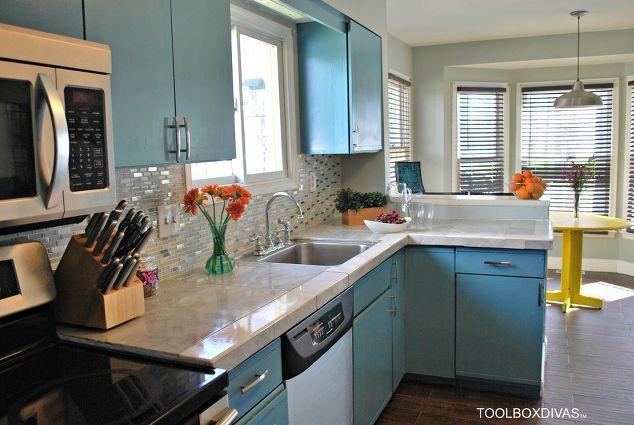 900 Bright Diy Kitchen Update Home Improvement Backsplash Cabinets