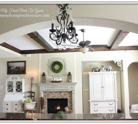 Diy Wood Beams, Diy, Living Room Ideas, Wall Decor, Woodworking Projects Part 50