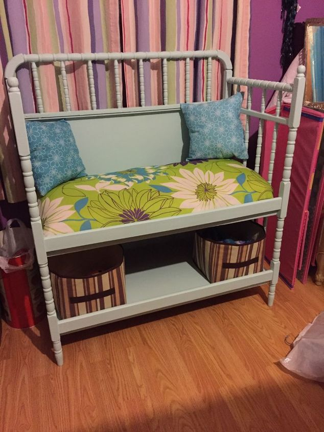 changing table to bench, painted furniture, repurposing upcycling