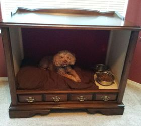 Vintage TV Cabinet Turned Dog Bed Hometalk