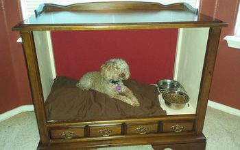 Vintage TV Cabinet Turned Dog Bed!