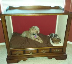 Attirant Vintage Tv Cabinet Turned Dog Bed, Painted Furniture, Pets Animals,  Repurposing Upcycling