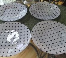 diy designer plates, crafts, decoupage, dining room ideas, how to