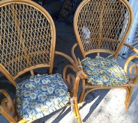 Any Suggestions For Redoing These Wicker Chairs?