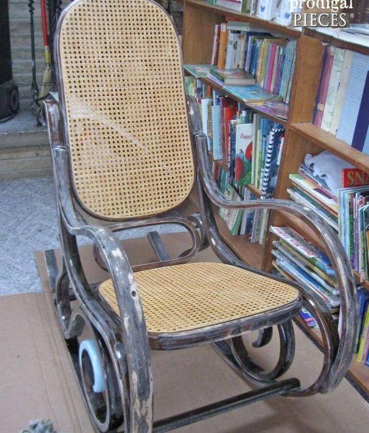 a shabby chic rocker with a twist, chalk paint, painted furniture, repurposing upcycling, shabby chic