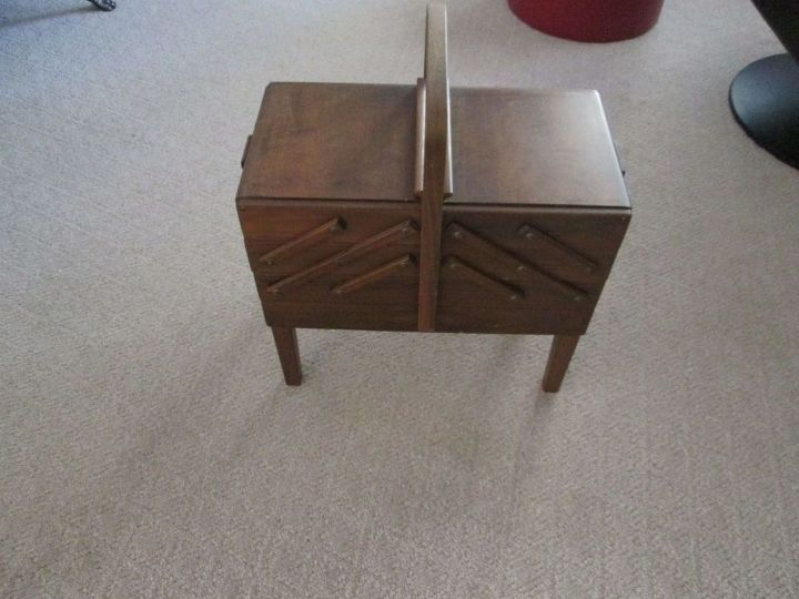 q would you paint this antique sewing box help me, painted furniture, repurposing upcycling
