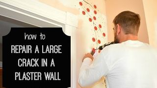 , Repairing a Plaster Crack with Big Wally s Plaster Magic My house Crackstop about the 6 minute mark