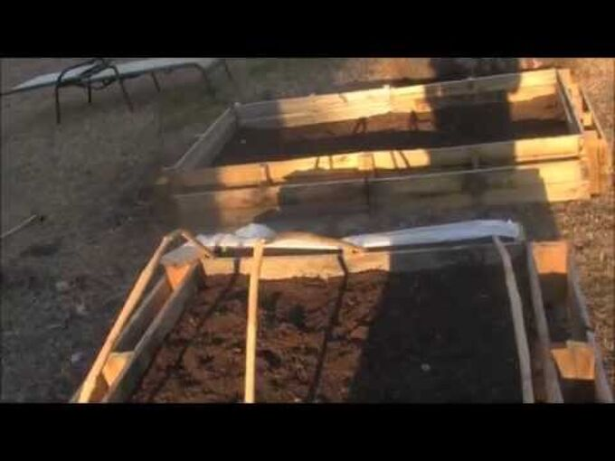 raised planter bed from pallets quick and easy, diy, gardening, pallet, woodworking projects