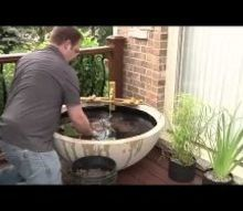 an inexpensive diy way to add a water feature to your garden, gardening, outdoor living, ponds water features