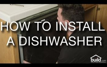 how to install a dishwasher, appliances, how to