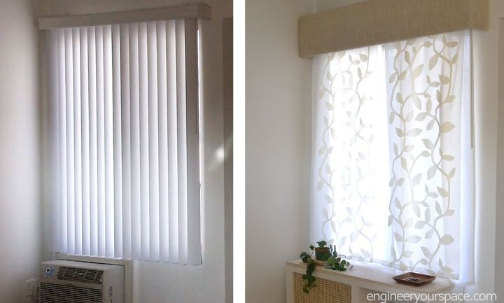 How to replace vertical blinds with curtains in minutes Curtains venetian blinds