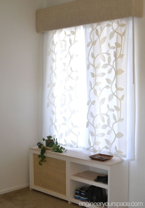 how to replace vertical blinds with curtains in minutes hometalk. Black Bedroom Furniture Sets. Home Design Ideas
