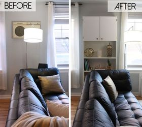 Hiding An Ugly Wall Unit Air Conditioner Ikea Billy Hack, Hvac, Living Room  Ideas